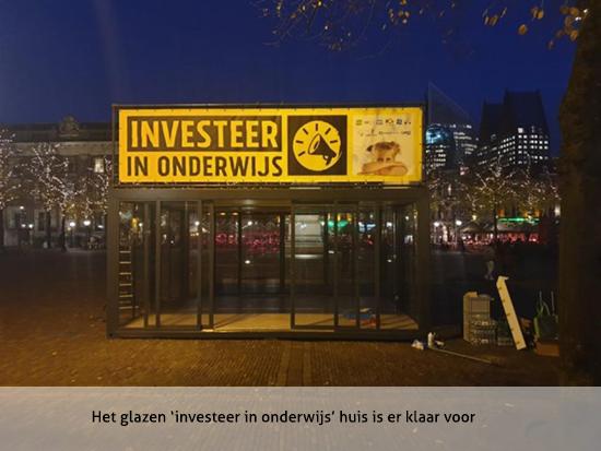 Het  glazen 'investeer in onderwijshuis' is er klaar voor