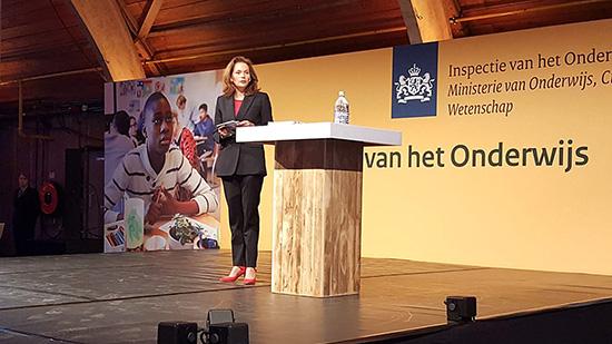 Monique Vogelzang opent de Staat van het Onderwijs