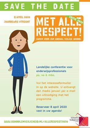 Aankondiging onderwijsconferentie Met Alle Respect