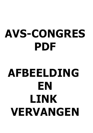 Brochure AVS-congres 2018