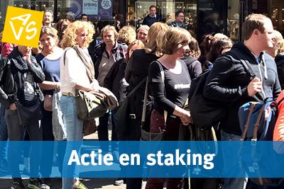 Actie en staking
