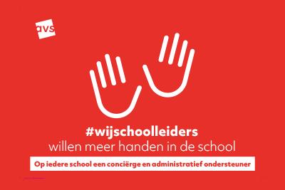 #wijschoolleiders willen meer handen in de school