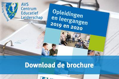 Brochure Opleidingen en leergangen AVS Centrum Educatief Leiderschap