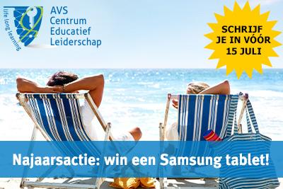Schrijf je je in voor 15 juli en maak kans op een Samsung tablet