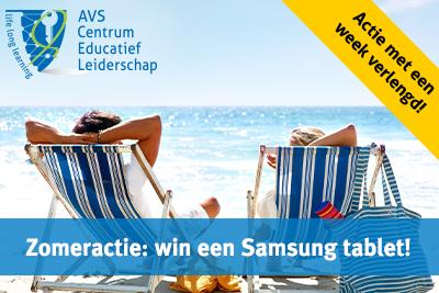 Schrijf je je in vóór 22 juli en maak kans op een Samsung tablet