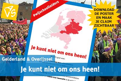 Aankondiging staking leraren 30 mei in Deventer