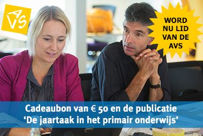 Word nu lid van de AVS en ontvang een cadeaubon van € 50 en de publicatie 'Jaartaak in het onderwijs'