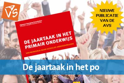 De publicatie 'De jaartaak in het primair onderwijs' is nu te koop