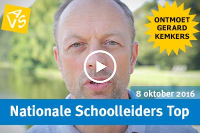 Ontmoet Gerard Kemkers op de Nationale Schoolleiders Top op 8 oktober